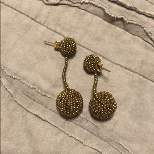 Jewelry - Beaded Earrings in a dark gold color